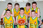 Gneeveguilla  team that played Athea Vixens in the u16 final at the  County basketball finals in Killarney on Sunday front row l-r: Niall O'Connor, Daniel Flemingh, Jack Brosnan. back Colm O'Mahony, Charlie Collins, Sean o'keeffe Lorcan Keane