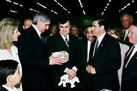 Montreal (Qc) CANADA - May 25, 1998<br /> -File Photo -<br /> Lucien Bouchard,Premier of Quebec visit IFI company<br /> <br /> Bouchard was the Premier of Quebec from January 26, 1996 to March 8, 2001.