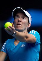 Justine Henin (BEL) against  Alisa Kleybanova (RUS) (27) in the Third Round of the Ladies Singles. Henin beat Kleybanove 3-6 6-4 6-2..International Tennis - Australian Open Tennis - Fri 22 Jan 2010 - Melbourne Park - Melbourne - Australia ..© Frey - AMN Images, 1st Floor, Barry House, 20-22 Worple Road, London, SW19 4DH.Tel - +44 20 8947 0100.mfrey@advantagemedianet.com