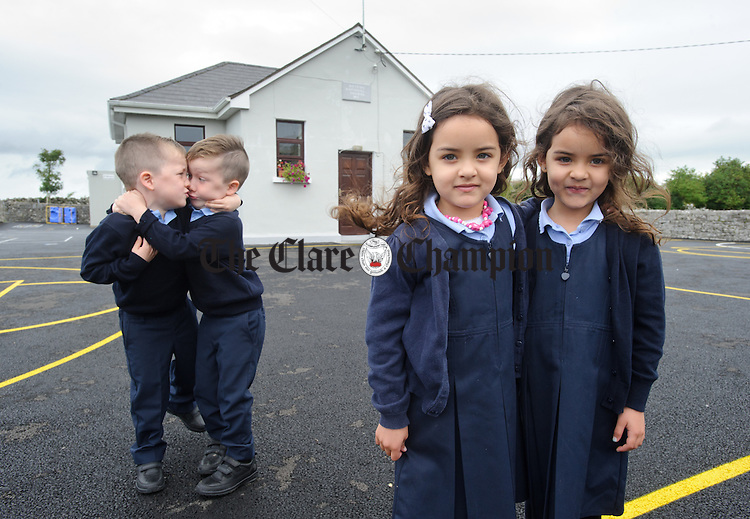 Twins Aisling and Julie Noleto da Silva and twins Brody and Finn O Donoghue during their first day of school at Boston NS. Photograph by John Kelly.