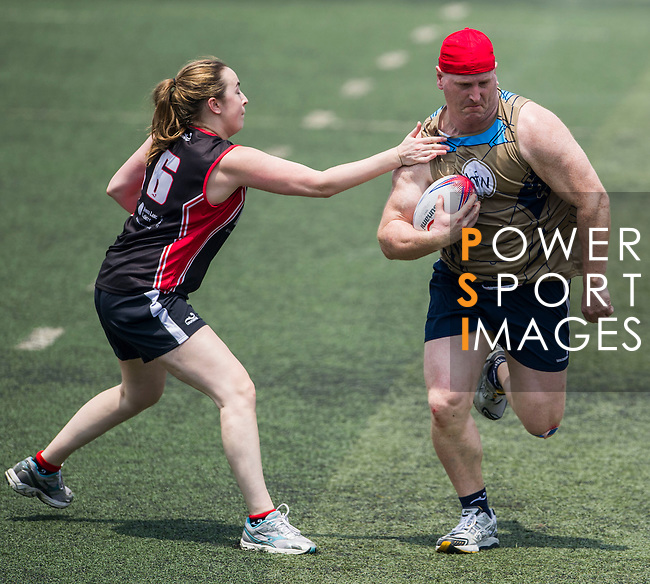 Holman Fenwick Willan vs Jones Lang LaSalle during the Swire Properties Touch Tournament at Kowloon King's Park Sports Ground on 13 July 2013 in Hong Kong, China. Photo by Victor Fraile / The Power of Sport Images