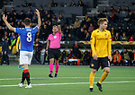 03.10.2019 Young Boys of Bern v Rangers: Referee Manuel Schuettengruber points for a corner after Alfredo Morelos was felled in the box