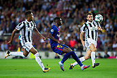 12th September 2017, Camp Nou, Barcelona, Spain; UEFA Champions League Group stage, FC Barcelona versus Juventus; Ousmane Dembélé of FC Barcelona fight the ball against Juventus defense