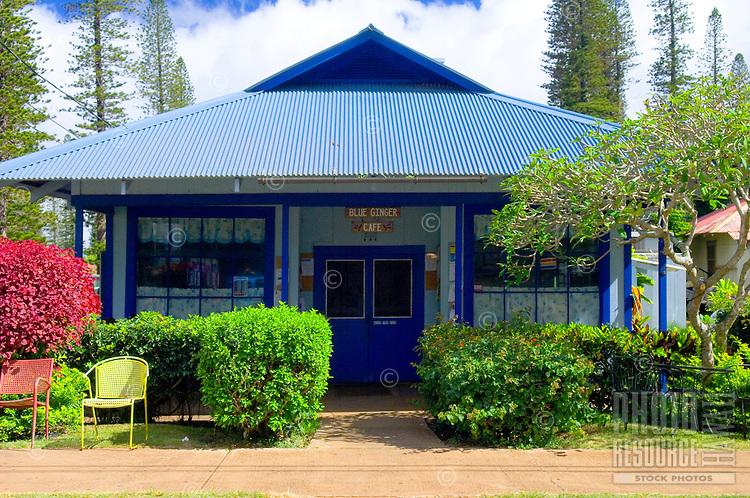 Blue Ginger Cafe, lanai City, Lanai, Hawaii