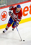 31 March 2010: Montreal Canadiens' defenseman Andrei Markov in action during the second period against the Carolina Hurricanes at the Bell Centre in Montreal, Quebec, Canada. The Hurricanes defeated the Canadiens 2-1 in their last meeting of the regular season. Mandatory Credit: Ed Wolfstein Photo