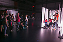 """SLIPPAGE presents, """"...these borders that keep me down...,"""" an afrotechnopunk extravaganza that explores redlining, gerrymandering, and asocial cartographies that produce and reinforce inequality, as part of Moogfest at the Rubenstein Arts Center. Thomas DeFrantz, Professor in the Program in Dance, brought together graduate students, community activists, and SLIPPAGE artists for the performance."""