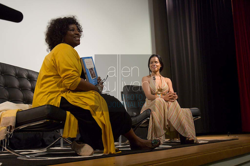 "LaTanya Richardson (left) and Victoria Rowell during a discussion in the Rich Theatre after a showing of Rowell's documentary, ""The Mentor,"" based on her book, ""The Women Who Raised Me,"" at the Woodruff Arts Center in Atlanta on Sunday, July 29, 2007."