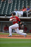 ***Temporary Unedited Reference File***Birmingham Barons shortstop Eddy Alvarez (1) during a game against the Pensacola Blue Wahoos on May 2, 2016 at Regions Field in Birmingham, Alabama.  Pensacola defeated Birmingham 6-3.  (Mike Janes/Four Seam Images)