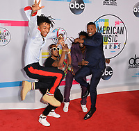 Slim Jimmy, Swae Lee, Designer &amp; Jamie Foxx at the 2017 American Music Awards at the Microsoft Theatre LA Live, Los Angeles, USA 19 Nov. 2017<br /> Picture: Paul Smith/Featureflash/SilverHub 0208 004 5359 sales@silverhubmedia.com