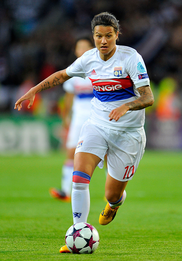 Olympique Lyonnais' Dzsenifer Marozsan in action <br /> <br /> Photographer Ashley Crowden/CameraSport<br /> <br /> UEFA Women's Champions League Final - Lyon Women v Paris Saint-Germain Women - Thursday 1st June 2017 - Cardiff City Stadium<br />  <br /> World Copyright &copy; 2017 CameraSport. All rights reserved. 43 Linden Ave. Countesthorpe. Leicester. England. LE8 5PG - Tel: +44 (0) 116 277 4147 - admin@camerasport.com - www.camerasport.com