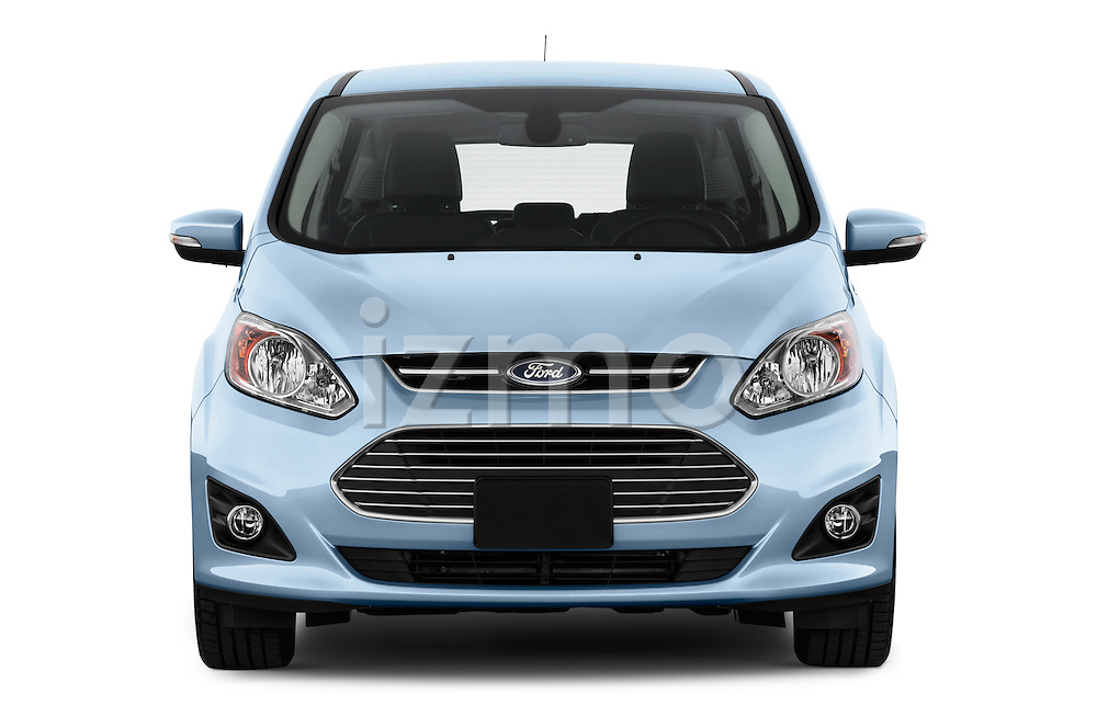Straight front view of 2013 Ford C Max Hybrid SEL Stock Photo
