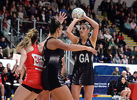 08.02.2017 New Zealand's Te Paea Selby-Rickit in action during the Wales v Silver Ferns netball test match at Swansea University at Ice Arena Wales. Mandatory Photo Credit ©Ian Cook/Michael Bradley Photography.