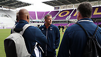 Orlando, Florida - Saturday January 13, 2018: Todd Yeagley with Bo Oshoniyi and Kris Kelderman. Match Day 1 of the 2018 adidas MLS Player Combine was held Orlando City Stadium.