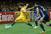 October 11, 2016: ROBBIE KRUSE (10) of Australia stretches for the ball during a 3rd round Group B World Cup 2018 qualification match between Australia and Japan at the Docklands Stadium in Melbourne, Australia. Photo Sydney Low Please visit zumapress.com for editorial licensing. *This image is NOT FOR SALE via this web site.