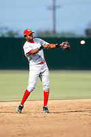 Junior Arias - AZL Reds - 2010 Arizona League. Photo by:  Bill Mitchell/Four Seam Images..