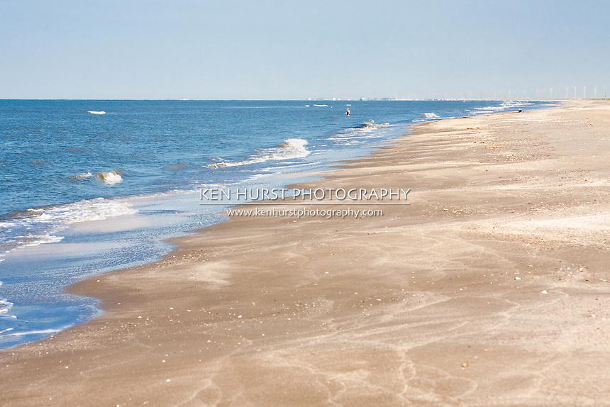 Holly Beach near Cameron, Louisiana on the Gulf Of Mexico.