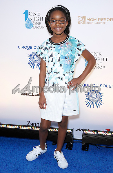 18 March 2016 - Las Vegas, Nevada - Marsai Martin. Cirque Du Soleil presents star-studded blue carpet at Fourth Annual One Night for ONE DROP at the Cleveland Clinic Lou Ruvo Center for Brain Health. Photo Credit: MJT/AdMedia