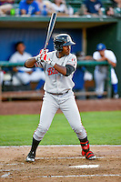 Montrell Marshall (48) of the Billings Mustangs at bat against the Ogden Raptors in Pioneer League action at Lindquist Field on August 12, 2016 in Ogden, Utah. Billings defeated Ogden 7-6. (Stephen Smith/Four Seam Images)