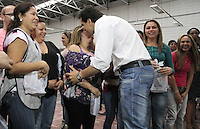 ATENÇÃO EDITOR: FOTO EMBARGADA PARA VEICULO INTERNACIONAL - SÃO PAULO, SP, 25 SETEMBRO 2012 - ELEIÇÕES SÃO PAULO 2012 - GABRIEL CHALITA -  O candidato a prefeitura de São Paulo pelo PMDB Gabriel Chalita durante a apresentação de suas propostas para funcionários de uma confecção na região do Tatuapé, zona leste da capital, no encontro o candidato respondeu a perguntas de funcionários e explicou seus projetos em detalhes. Nesta terça, 25. (FOTO: LEVY RIBEIRO / BRAZIL PHOTO PRESS)