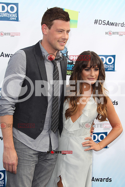 SANTA MONICA, CA - AUGUST 19: Cory Monteith and Lea Michele at the 2012 Do Something Awards at Barker Hangar on August 19, 2012 in Santa Monica, California. Credit: mpi21/MediaPunch Inc. /NortePhoto.com<br /> <br /> **SOLO*VENTA*EN*MEXICO**<br />  **CREDITO*OBLIGATORIO** *No*Venta*A*Terceros*<br /> *No*Sale*So*third* ***No*Se*Permite*Hacer Archivo***No*Sale*So*third*