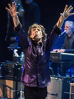 NEWARK, NJ - DECEMBER 13: Mick Jagger pictured as The Rolling Stones perform in concert at The Prudential Center in Newark, New Jersey. December 13, 2012. Credit: Rocco S. Coviello/MediaPunch Inc. /NortePhoto