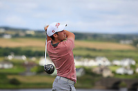 Alex Gleeson (Castle) on the 9th tee during Matchplay Round 1 of the South of Ireland Amateur Open Championship at LaHinch Golf Club on Friday 22nd July 2016.<br /> Picture:  Golffile | Thos Caffrey<br /> <br /> All photos usage must carry mandatory copyright credit   (© Golffile | Thos Caffrey)