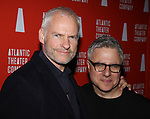 Martin McDonagh and Neil Pepe attends the 'Hangmen' Opening Night After Party at the The Gallery at the Dream Downtown on February 5, 2018 in New York City.