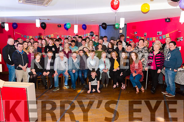 Eoin Moynihan from Killarney celebrated his 18th birthday surrounded by friends and family in the K Town Bar, Killarney last Saturday night.