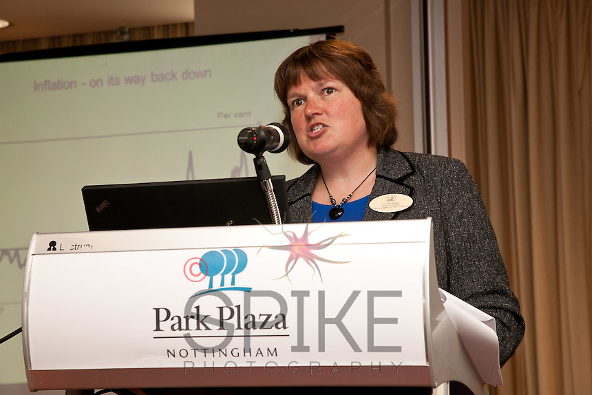 Keynote speaker Pam Wright, deputy agent for the Bank of England East Midlands Region