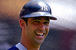17 June 2006: Jorge Posada, catcher for the New York Yankees, awaits his turn in the batting cage prior to a game against the Washington Nationals at RFK Stadium, in Washington, DC. The Nationals overcame a seven run deficit to win 11-9 in the second game of the interleague series...Mandatory Photo Credit: Ed Wolfstein Photo...