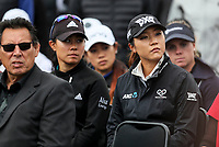 Lydia Ko (R) and Danielle Kang. Welcome powhiri. McKayson NZ Women's Golf Open, first Practice Round, Windross Farm Golf Course, Manukau, Auckland, New Zealand, Monday 25 September 2017.  Photo: Simon Watts/www.bwmedia.co.nz