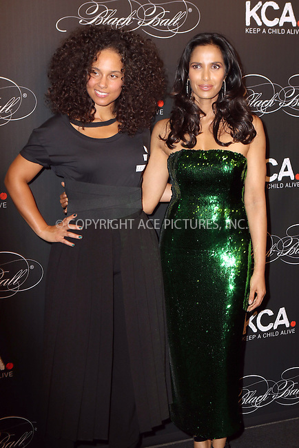 www.acepixs.com<br /> <br /> October 19 2016, New York City<br /> <br /> Padma Lakshmi (R) and Keep A Child Alive co-founder Alicia Keys arriving at the Keep A Child Alive's Black Ball 2016 at the Hammerstein Ballroom on October 19, 2016 in New York City.<br /> By Line: Nancy Rivera/ACE Pictures<br /> <br /> <br /> ACE Pictures Inc<br /> Tel: 6467670430<br /> Email: info@acepixs.com<br /> www.acepixs.com