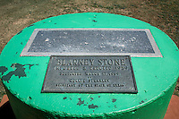 A piece of of the world-famous Blarney Stone—taken from Blarney Castle in County Cork, Ireland.  The stone is embeded in a concrete cylinder in Elmore Park in Shamrock Texas on Route 66.