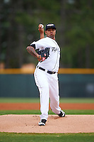 Lakeland Flying Tigers starting pitcher Jairo Labourt (47) delivers a pitch during a game against the Jupiter Hammerheads on March 14, 2016 at Henley Field in Lakeland, Florida.  Lakeland defeated Jupiter 5-0.  (Mike Janes/Four Seam Images)