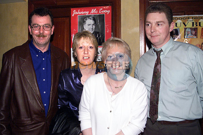 Declan and Bernadette Brogan with Peter and Francis Woods enjoying the New Year celebrations in the Bridgeford..Picture: Paul Mohan/Newsfile