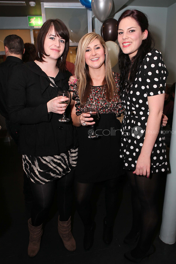 NO REPRO FEE. 3/2/2011. OPENING OF THE COUNTER. Aine Walsh, Lisa Kenna and Eimear Fagan  are pictured at the opening of the Counter restaurant on Suffolk St Dublin. Picture James Horan/Collins Photos