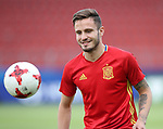 Spain's Saul Niguez in action during training at the Stadion Cracovia in Krakow. Picture date 29th June 2017. Picture credit should read: David Klein/Sportimage
