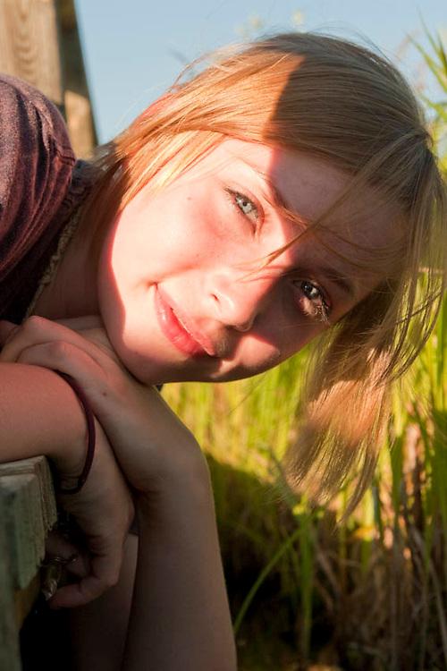 Teenage female outdoor portrait.