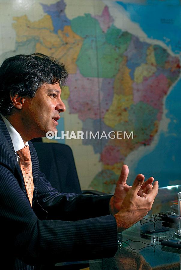 Ministro da Educação Fernando Haddad. Brasilia. 18.01.2008. Foto de Sergio Amaral