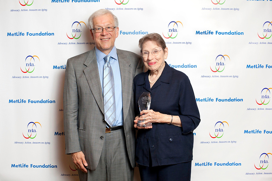 Bob Sessler, left, Gold honoree LaVerne Gordon, right, at the Older Volunteers Enrich America Awards at the Double Tree Hotel in Washington, DC on Friday, June 17, 2011.