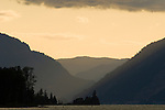 Columbia River Gorge at Sunset, Oregon