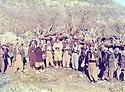 Iraq 1979 <br />  Jalal Talabani in the middle with his supporters, among them, Omar Shreikhmous, Fouad Massoum, Adel Murad in Nawzang  <br /> Irak 1979 <br /> Au centre Jalal Talabani avec ses partisans , parmi eux, Adel Murad, Omar Sheikhmous, Fouad Massoum a Nawzang