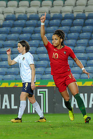 20200304 Faro , Portugal : Portugese forward Jessica Silva(10)  pictured during the female football game between the national teams of Portugal and Italy on the first matchday of the Algarve Cup 2020 , a prestigious friendly womensoccer tournament in Portugal , on wednesday 4 th March 2020 in Faro , Portugal . PHOTO SPORTPIX.BE | STIJN AUDOOREN