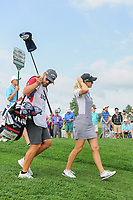 Madelene Sagstrom (SWE) departs the first tee during Saturday's third round of the 72nd U.S. Women's Open Championship, at Trump National Golf Club, Bedminster, New Jersey. 7/15/2017.<br /> Picture: Golffile | Ken Murray<br /> <br /> <br /> All photo usage must carry mandatory copyright credit (&copy; Golffile | Ken Murray)