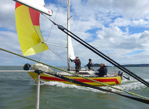 The Puppeteer 22s managed the best turnout with 16 boats, and the closest finish, with Yellow Peril (pictured) winning by just five seconds