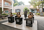 """The House of Sharing for Comfort Women, June 7, 2016 : Bust sculptures of the late South Korean comfort women and a statue of a teenage girl called the """"peace monument"""" for former """"comfort women"""" who served as sex slaves for Japanese soldiers during World War II, are seen in the House of Sharing in Gwangju, Gyeonggi province, about 30 km (18 miles) southeast of Seoul, June 7, 2016. The House of Sharing is a shelter for living South Korean """"comfort women"""", who said they were forced to become sexual slavery by Japanese military during the Second World War. It was founded in 1992 with funds organized by Buddhists and other civic groups. The Museum of Sexual Slavery by Japanese Military locates in the shelter. (Photo by Lee Jae-Won/AFLO) (SOUTH KOREA)"""