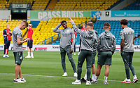 Leeds United players inspect the pitch before the match<br /> <br /> Photographer Alex Dodd/CameraSport<br /> <br /> The Carabao Cup Second Round- Leeds United v Stoke City - Tuesday 27th August 2019  - Elland Road - Leeds<br />  <br /> World Copyright © 2019 CameraSport. All rights reserved. 43 Linden Ave. Countesthorpe. Leicester. England. LE8 5PG - Tel: +44 (0) 116 277 4147 - admin@camerasport.com - www.camerasport.com