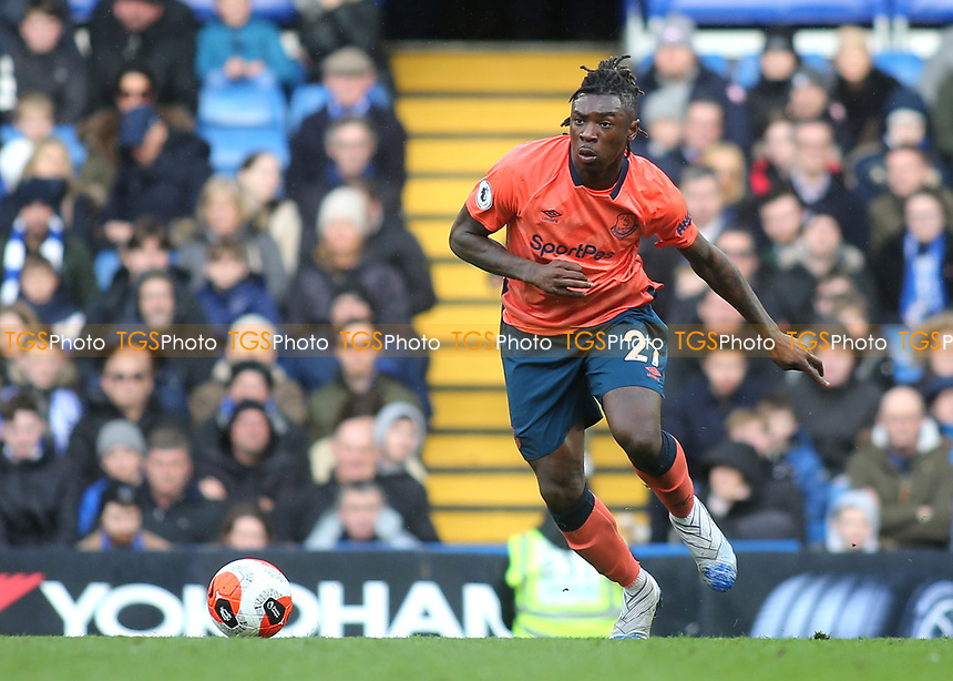 Moise Kean of Everton in action during Chelsea vs Everton, Premier League Football at Stamford Bridge on 8th March 2020