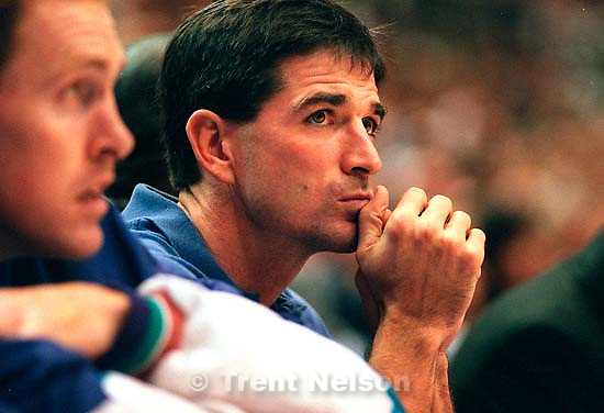 John Stockton misses his first home game since 1990. Jazz vs. Nuggets.<br />