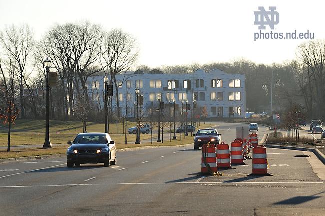 Construction work on Innovation Park, March 2009..Photo by Matt Cashore/University of Notre Dame